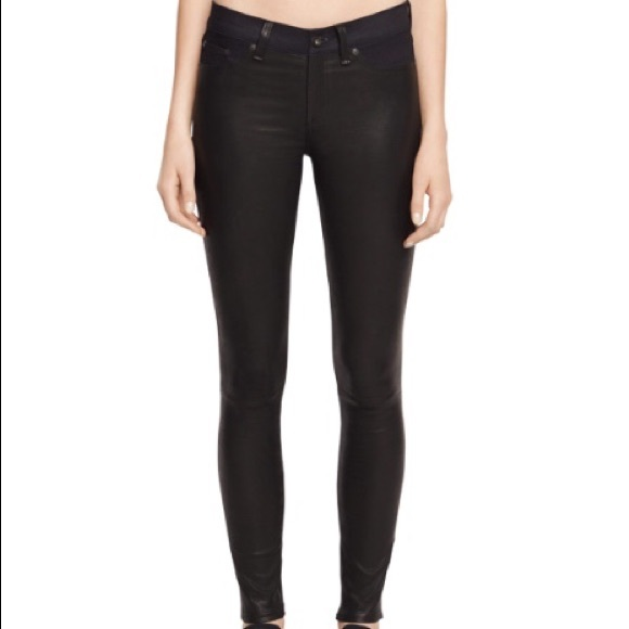 ec9e38d22883e rag & bone Jeans | Rag Bone Leather Black Denim Skinny Bnwt | Poshmark